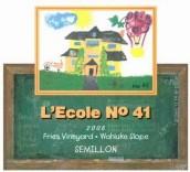 艾科勒弗里斯庄园赛美容干白葡萄酒(L'ecole no 41 Fries Vineyard Semillon, Wahluke Slope, USA)