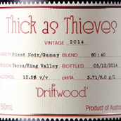 亲密无间浮木黑皮诺-佳美红葡萄酒(Thick as Thieves Driftwood Pinot Noir Gamay,Yarra Valley,...)