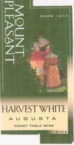 快乐山嘉实干白葡萄酒(Mount Pleasant Augusta Harvest White,Missouri,USA)