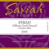 Saviah Cellars Stillwater Creek Vineyard Syrah,Columbia ...