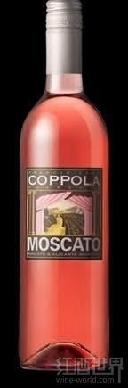 柯波拉莫斯卡托桃红葡萄酒(Francis Ford Coppola Rosso&Bianco Moscato,California,USA)