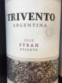 风之语珍藏西拉干红葡萄酒(Trivento Reserve Syrah, Tupungato, Argentina)