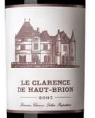小侯伯王红葡萄酒(Le Clarence de Haut-Brion,Pessac-Leognan,France)