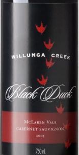 威伦加溪黑鸭赤霞珠红葡萄酒(Willunga Creek Black Duck Cabernet Sauvignon,McLaren Vale,...)
