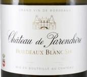 金巴伦波尔多半干型白葡萄酒(Chateau de Parenchere Bordeaux Blanc Sec, Bordeaux, France)