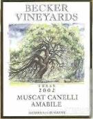 贝克麝香甜白葡萄酒(Becker Vineyards Muscat Canelli, Texas, USA)