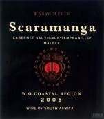 纳比戈里根酒庄斯卡拉孟加赤霞珠-丹魄-马尔贝克干红葡萄酒(Nabygelegen Scaramanga Cabernet Sauvignon-Tempranillo-Malbec, Wellington, South Africa)