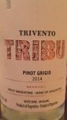 风之语部落灰皮诺干白葡萄酒(Trivento Tribu Pinot Grigio, Mendoza, Argentina)