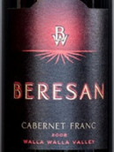 贝里森品丽珠干红葡萄酒(Beresan Cabernet Franc,Walla Walla Valley,USA)