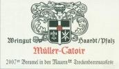 卡托尔布鲁莫恩雷司令逐粒枯萄精选甜白葡萄酒(Muller-Catoir Breumel in den Mauern Riesling ...)