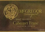 麦格雷戈品丽珠干红葡萄酒(McGregor Vineyard Cabernet Franc, Finger Lakes, USA)