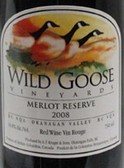 野鹅黑皮诺干红葡萄酒(Wild Goose Winery Pinot Noir,Okanagan Valley,Canada)