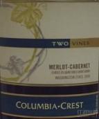 哥伦比亚山峰双藤梅洛-卡本内干红葡萄酒(Columbia Crest Two Vines Merlot - Cabernet, Washington, USA)
