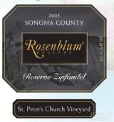 罗森布拉姆皮特教堂园珍藏仙粉黛干红葡萄酒(Rosenblum Cellars St Peter's Church Vineyard Reserve ...)