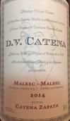 卡帝娜DV马尔贝克红葡萄酒(Bodega Catena Zapata DV Catena Malbec Malbec, Mendoza, Argentina)