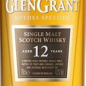 格兰冠12年苏格兰单一麦芽威士忌(Glen Grant Aged 12 Years Single Malt Scotch Whisky,Speyside,...)