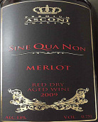 阿斯科尼酒庄赛奎农梅洛红葡萄酒(Asconi Sine Qua Non Merlot,Moldova)