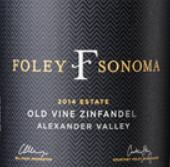 弗利索诺玛老藤仙粉黛干红葡萄酒(Foley Sonoma Old Vine Zinfandel,Alexander Valley,USA)