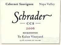 沙德CCS贝克托福喀龙园赤霞珠干红葡萄酒(Schrader Cellars CCS Beckstoffer To Kalon Vineyard Cabernet ...)