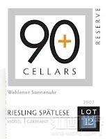 90布拉斯12号珍藏雷司令干白葡萄酒(90+Ninety Plus Cellars Lot 12 Wehlener Sonnenuhr Reserve ...)
