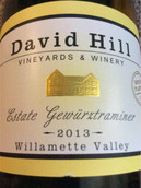 戴维山琼瑶浆半甜型白葡萄酒(David Hill Winery Estate Gewurztraminer,Willamette Valley,...)
