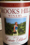 布鲁克斯山庄园混酿红葡萄酒(Brooks Hill Winery Estate Blend,Ohio River Valley,USA)