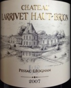拉里奥比昂酒庄红葡萄酒(Chateau Larrivet Haut-Brion, Pessac-Leognan, France)