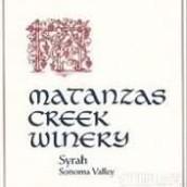 马坦萨斯溪西拉干红葡萄酒(Matanzas Creek Syrah,Sonoma County,USA)