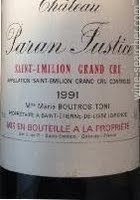 派伦贾斯蒂斯酒庄红葡萄酒(Chateau Paran Justice,Saint-Emilion Grand Cru,France)