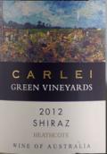 卡利绿酒庄设拉子红葡萄酒(Carlei Green Vineyards Shiraz, Heathcote, Australia)
