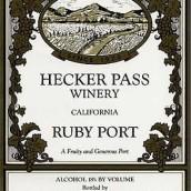 赫克帕斯宝石波特风格加强酒(Hecker Pass Ruby Port,California,USA)