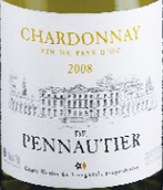 佩奥提亚收藏波诺蒂耶霞多丽干白葡萄酒(Chateau de Pennautier Collection Fruitee Chardonnay de Pennautier, Vin de Pays d'Oc, France)