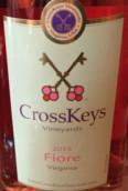 交叉钥匙菲奥雷桃红葡萄酒(CrossKeys Vineyards Fiore,Virginia,USA)
