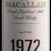 麦卡伦29年1972年份4041号桶陈苏格兰单一麦芽威士忌(The Macallan 29 Years Old 1972 Cask No.4041 Single Malt ...)