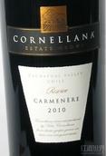 罗莎科尼拉珍藏佳美娜干红葡萄酒(Vina La Rosa Cornellana Reserve Carmenere,Cachapoal Valley,...)