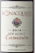 伯纳奎第佳美娜干红葡萄酒(Bonacquisti Wine Company Carmenere,New Mexico,USA)