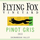 飞狐酒庄灰皮诺干红葡萄酒(Flying Fox Vineyard Pinot Gris,Virginia,USA)