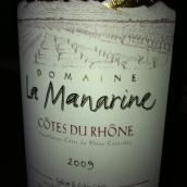 马纳莱酒庄干红葡萄酒(Domaine La Manarine,Cotes du Rhone,France)