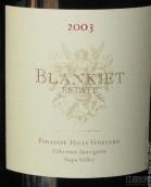 布兰凯特酒庄天堂伞园赤霞珠干红葡萄酒(Blankiet Estate Paradise Hills Vineyard Cabernet Sauvignon,...)