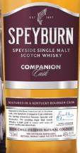 斯贝本同伴桶陈苏格兰单一麦芽威士忌(Speyburn Companion Cask Single Malt Scotch Whisky,Speyside,...)