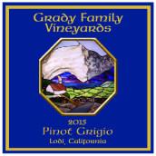 格雷迪家族酒庄灰皮诺干白葡萄酒(Grady Family Vineyards Pinot Grigio, Lodi, USA)