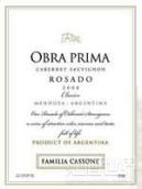 卡索奈家族奥夫拉普里马赤霞珠桃红葡萄酒(Familia Cassone Obra Prima Cabernet Sauvignon Rosado,Lujan ...)