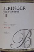 """贝灵哲""""第三世纪""""梅洛干红葡萄酒(Beringer Third Century Merlot,North Coast,USA)"""