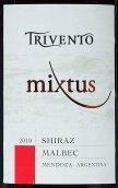 风之语西拉-马尔贝克干红葡萄酒(Trivento Mixtus Shiraz-Malbec,Mendoza,Argentina)