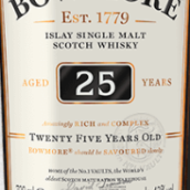 波摩25年苏格兰单一麦芽威士忌(Bowmore Aged 25 Years Single Malt Scotch Whisky,Islay,UK)