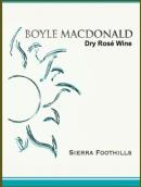 博伊尔酒庄桃红葡萄酒(Boyle MacDonald Dry Rose,Sierra Foothills,USA)