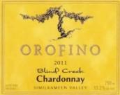 奥罗菲诺布兰德溪霞多丽干白葡萄酒(Orofino Vineyards Blind Creek Chardonnay,Similkameen Valley,...)