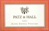 帕兹桤木泉园黑皮诺干红葡萄酒(Patz & Hall Alder Springs Vineyard Pinot Noir, Mendocino, USA)