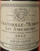 路易亚都爱侣(香波-慕西尼一级园)红葡萄酒(Louis Jadot Les Amoureuses, Chambolle-Musigny Premier Cru, France)