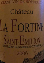 富坦酒庄干红葡萄酒(Chateau La Fortine,Saint-Emilion,France)